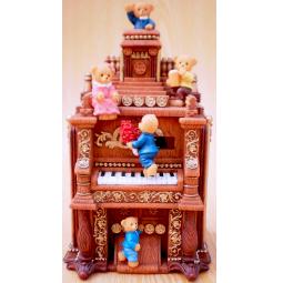 фото Музыкальная шкатулка Crystal Deco «Мишки на пианино»
