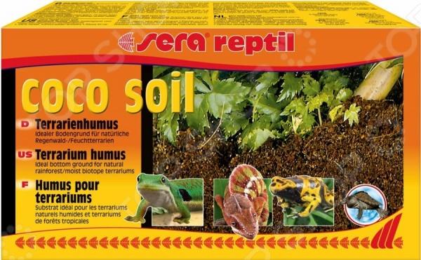 Грунт для террариума Sera Reptil Coco Soil лампа для террариума sera daylight compact 2% 25 вт