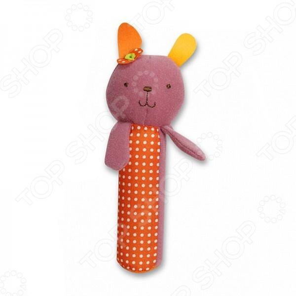 Игрушка-пищалка 1 Toy Bobbie &amp;amp; Friends «Заяц»Погремушки. Подвески<br>Игрушка-пищалка 1 Toy Bobbie Friends Заяц прекрасная развивающая игрушка для самых маленьких. Яркая и громкая пищалка обязательно привлечет внимание малыша, заинтересует его и увлечет. Малыши любят громкие и интересны звуки, тем более те которые можно производить самим. Разноцветная пищалка станет отличным приобретением для вашего ребенка. Игрушка выполнена в виде милого зайца с разноцветными ушками, который выполнен из высококачественного материала, не представляющего опасность для здоровья малыша. Игрушка не имеет острых углов, что также является её преимуществом. Погремушка легко ложится в детскую ручку, поэтому малыш может сам с ней играть.<br>