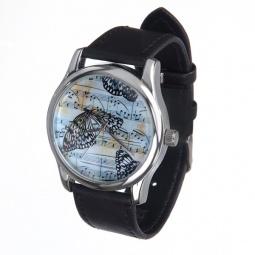Купить Часы наручные Mitya Veselkov «Бабочки и ноты»
