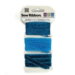 фото Набор декоративных лент We R Memory Keepers SewRibbon. Цвет: голубой