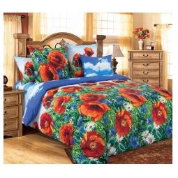 фото Комплект постельного белья Королевское Искушение «Маковый цвет». Евро