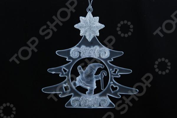 Елочное украшение со светодиодами Елочное украшение Crystal Deco «Санта в Елочке»