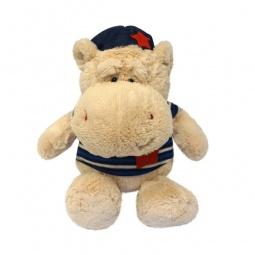 фото Мягкая игрушка Maxitoys «Бегемот Боня в фуражке». Размер: 30 см