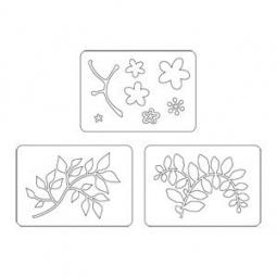 фото Набор форм для вырубки Sizzix Sizzlits Die Цветы, ветви, листья