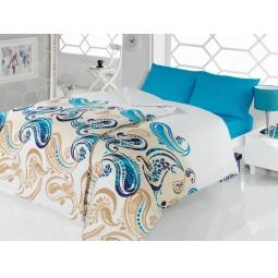 фото Комплект постельного белья Casabel Royal. Семейный. Цвет: голубой