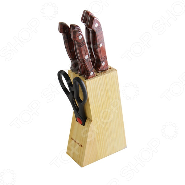 Набор ножей Mayer&amp;amp;Boch MB-397Ножи<br>Набор ножей Mayer Boch MB-397 станет отличным дополнением к комплекту аксессуаров и принадлежностей для кухни. Лезвия ножей выполнены из высокопрочного, не вступающей в реакции с продуктами питания, металла. Они имеют особую форму и специальный угол заточки, что обеспечивает удобство при нарезании и разделке продуктов. Деревянная подставка в комплекте. Торговая марка Mayer Boch это синоним первоклассного качества и стильного современного дизайна. Компания занимается производством и продажей кухонных инструментов, аксессуаров, посуды и т.д. Функциональность, практичность и инновационные решения вот основные принципы торгового бренда Mayer Boch.<br>
