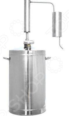 Самогонный аппарат с термометром Первач «Эконом»Домашние мини-пивоварни. Самогонные аппараты<br>Автоматический домашний дистиллятор с термометром Первач Эконом представляет собой аппарат, используемый для получения самогона в домашних условиях. Принцип работы прибора основан на методе дистилляции, а именно на испарении спирта с его последующей конденсацией. Зачастую, самогонные аппараты-дистилляторы применяют для перегонки браги в спирт-сырец для последующей ректификации, либо, когда нужно максимально передать вкус исходного сырья. Дистиллятор выполнен из высококачественной, не вступающей в реакции окисления, нержавеющей стали и оборудован охладителем, перегонным кубом и клапаном сброса избыточного давления.<br>