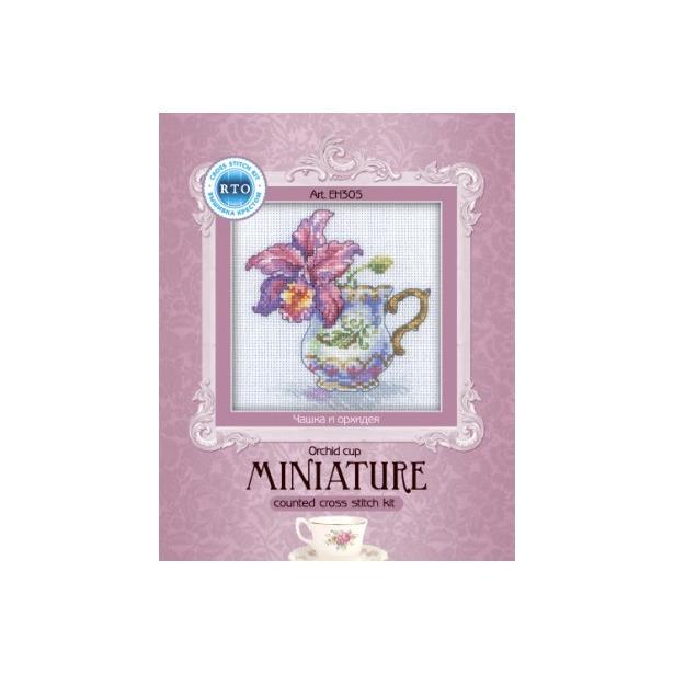 фото Набор для вышивания RTO «Чашка и орхидея»