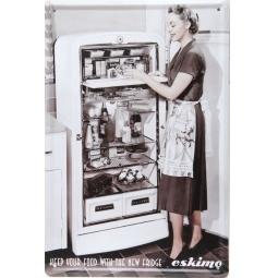 фото Картина на металле Феникс-Презент «Холодильник»