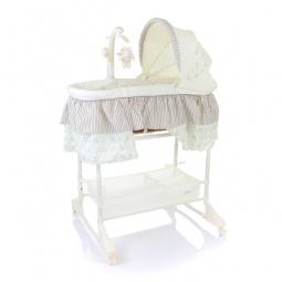 фото Кроватка-люлька детская Jetem Sweet Dream + mobile 3в1. Цвет: серый