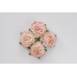 фото Набор украшений ScrapBerry's «Чайная роза». Диаметр: 4 см. Цвет: розовый, желтый