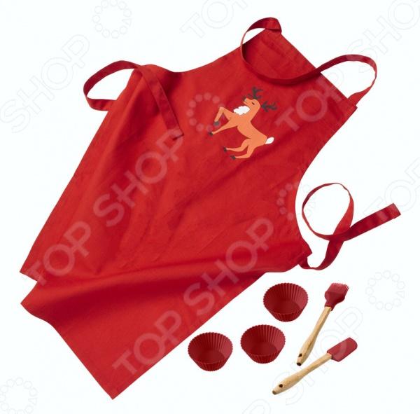 Набор для выпечки детский Lurch 14020 удобная и практичная модель, поможет защитить одежду от пятен, брызг и капель, которые неизбежны в процессе приготовления различных блюд. Модель выполнена из качественных и приятных на ощупь материалов, быстро и легко стирается. Фартук одевается на лямку через шею и завязывается на две боковые тесемки. В набор также входят формочки для выпечки, лопатка и щетка.