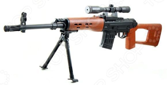 Винтовка механическая Shantou Gepai ES444-P361AДругое игрушечное оружие<br>Винтовка механическая Shantou Gepai ES444-P361A оружие, с которым малыш почувствует себя настоящим стрелком. Специально создан для активных детей, обожающих подвижные игры. Это игрушечное оружие удобно ложится в руку, и его можно использовать даже из положения лежа. Винтовка отличается удивительной детализацией, поэтому игра с ним станет ещё реальней и увлекательней. Встроенный лазерный прицел поможет точно прицелиться в условиях темноты.<br>