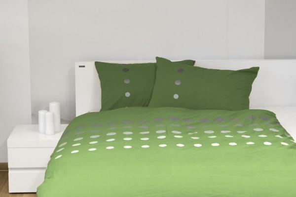 Фото Комплект постельного белья Dormeo Symphony. 1-спальный. Цвет: зеленый