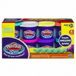 Купить Набор пластилина из 8 банок Play-Doh Plus