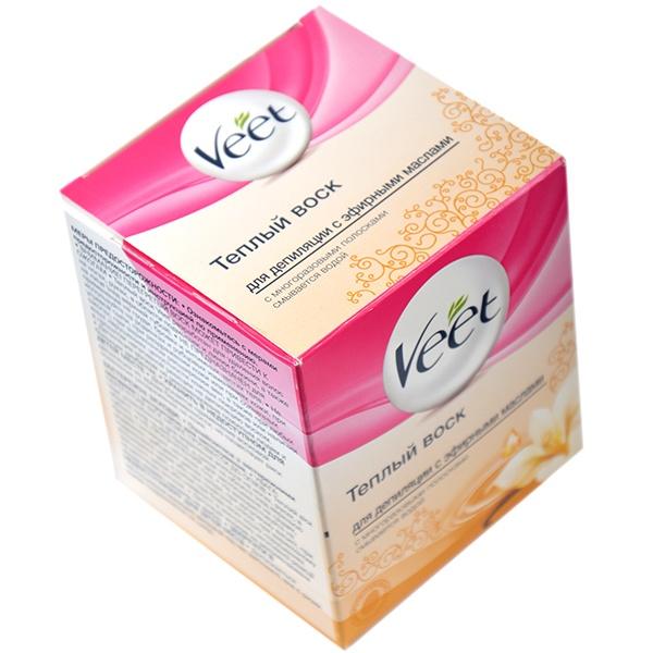 фото Воск теплый для депиляции Veet с эфирными маслами, Депиляция. Средства для бритья.