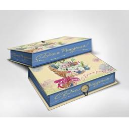 фото Шкатулка-коробка подарочная Феникс-Презент «Букет». Размер: L (22х16 см). Высота: 7 см