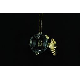 фото Елочное украшение Crystal Deco «Золотая рыбка». Цвет: золотистый