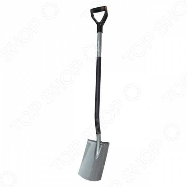 Лопата садовая с закругленным лезвием Fiskars Ergonomic - отличная модель для садоводов и огородников. Благодаря специальной конструкции лопата позволяет сохранять человеку правильное положение тела во время работы. Нагрузка на плечи минимизируется благодаря углу подъема в 26 . Полый стальной черенок имеет пластиковое покрытие, которое надежно защищает его от холода. Рукоятка к черенку расположена под углом 17 градусов, что обеспечивает руке правильный и комфортный хват. Лопата имеет прямое лезвие, с помощью которого можно легко обработать кромку газона, разрыхлить и вскопать землю. Дополнительную жесткость и легкое проникновение в почву лопате придает сваренное соединение между черенком и лезвием.