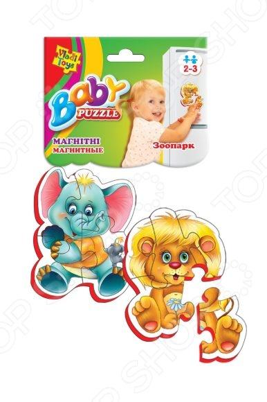 Пазл магнитный Vladi Toys «Зоопарк»