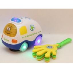 фото Машинка игрушечная Bairun «Скорая помощь с трещоткой»