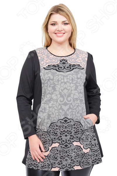 Туника Pretty Woman «Эмилия»Туники<br>Туника Pretty Woman Эмилия это великолепная вещь, которая создана с учетом всех особенностей женской фигуры. В ней вы будете чувствовать себя комфортно как на работе, так и на вечерней прогулке по городу. Тунику можно носить не только с брюками, но и с юбками, леггинсами.  Туника свободного кроя с подплечниками и длинными рукавами.  Круглый вырез горловины подчеркнет красоту вашей шеи.  По бокам предусмотрено 2 небольших кармана.  На фотографии туника представлена в сочетании с брюками Альбина . Туника сшита из плотной и мягкой ткани, состоящей на 60 из шерсти, на 20 из вискозы и на 20 из полиэстера. Материал не линяет, не скатывается, формы от стирки не теряет.<br>