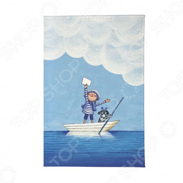 Визитница Mitya Veselkov «Мальчик и собака в лодке»