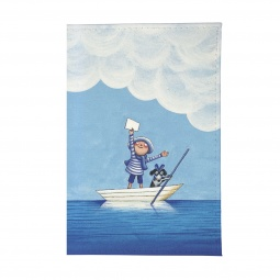фото Визитница Mitya Veselkov «Мальчик и собака в лодке»