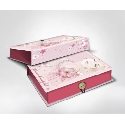 фото Шкатулка-коробка подарочная Феникс-Презент «Девушка». Размер: S (18х12 см). Высота: 5 см