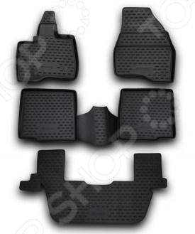 Комплект ковриков в салон автомобиля Novline-Autofamily Ford Explorer 2011-2014Коврики в салон<br>Комплект ковриков в салон автомобиля Novline Autofamily Ford Explorer 2011-2014 поможет обеспечить чистоту и комфортные условия эксплуатации вашего автомобиля. Используйте эти коврики, чтобы защитить оригинальное покрытие пола от грязи, пыли, пятен и воздействия влаги. Изделия созданы из экологически чистого полимерного материала, прошедшего строгий гигиенический контроль. Оцените основные преимущества полиуретановых ковриков Novline:  Нейтральность к агрессивному воздействую различных химических сред.  Высокая устойчивость к значительным перепадам температур в диапазоне от -50 до 50 C .  Устойчивость к воздействию ультрафиолетовых лучей.  Значительно легче резиновых аналогов. Легко очищаются от грязи, обладают повышенной износостойкостью.  Свойства материала и текстура поверхности коврика обеспечивают противоскользящий эффект.  Форма ковриков разработана с учетом особенностей конкретной марки и модели автомобиля применяется технология 3D-сканирования для максимальной точности , что избавляет владельца от необходимости их подгонки под салон своей машины. Коврики надежно фиксируются на своих местах и не смещаются.  Передняя часть водительского ковра имеет специальную форму, исключающую зацепление педали за изделие.<br>