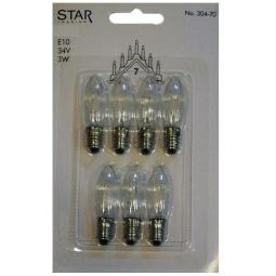 фото Набор ламп для семисвечников Star Trading 34V 3W E10