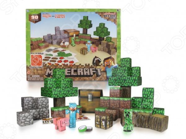 Конструктор бумажный Minecraft «Большой набор»Другие виды конструкторов<br>Конструктор бумажный Minecraft Большой набор подарочный комплект для маленьких строителей, состоящий из множества деталей, которые могут быть собраны вместе. Этот набор предлагает невероятные возможности по соединению и общей сборке. Внутри набора:  75 листов конструктора  2 бумажные ленты  16 блоков с наклейками. Детский конструктор является достаточно практичным учебным пособием, так как он развивает память, мышление, логику, фантазию, а также моторику рук. Сборка конструктора подарит ребенку массу удовольствия и приятное времяпрепровождение.<br>