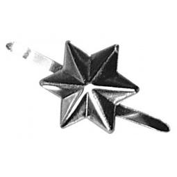 фото Клипсы декоративные Rayher «Звезды». Цвет: серебристый