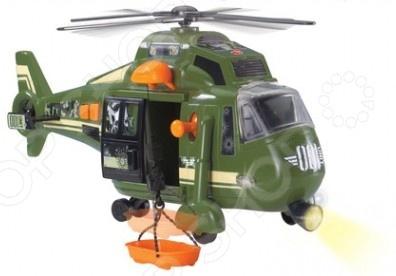 Вертолет военный Dickie 3308363 представляет собой реалистичную копию настоящего воздушного судна. Модель изготовлена из высококачественного пластика и обладает потрясающей детализацией. У вертолета открываются дверь и стекло кабины, поэтому внутрь можно посадить фигурку пилота. Также крутится винт, поднимается и опускается лебедка с поддоном. Кроме того, боевая машина оснащена световыми и звуковыми эффектами, что сделает игровой процесс еще более реалистичным. Яркий вертолетик разнообразит игровые ситуации, откроет новые сюжеты для маленького автолюбителя и поможет развить мелкую моторику рук и воображение. Не упустите шанс порадовать ребенка замечательным подарком!