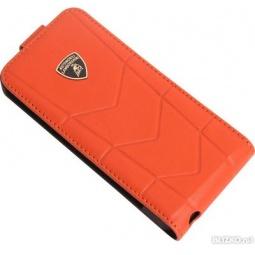 фото Чехол Lambordghini Cover Aventador D1 для iPhone 4S. Цвет: оранжевый