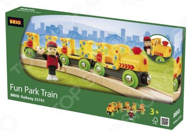 Паровозик игрушечный Brio «Парк развлечений» 33741
