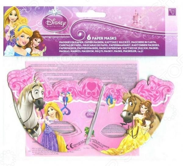 Маски Procos 82655 «Принцессы и животные»Карнавальные маски<br>Маски Procos 82655 Принцессы и животные набор ярких красочных масок, которые позволят воодушевить любой праздник и не оставит детишек скучать. Маска выполнена в розовых тонах и украшена изображениями 2-х принцесс от Disney. Надев такие маски дети смогут представить себя в виде сказочных принцесс и разыграть множество интересных инсценировок, развивая коммуникативные навыки. Маски выполнены из качественных и безопасных для детей материалов. С ними любой детский праздник станет более ярким и веселым.<br>