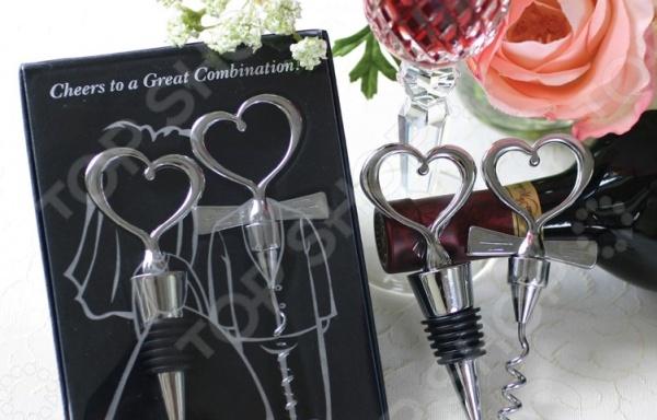 Подарочный набор: штопор и пробка Bradex «Жених и невеста» bradex набор свёрл