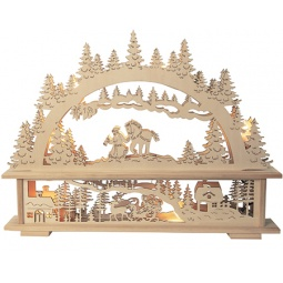 фото Декорация с подсветкой Star Trading «Санта в лесу»