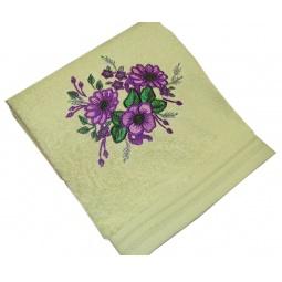 фото Полотенце подарочное с вышивкой TAC Flowers. Цвет: зеленый