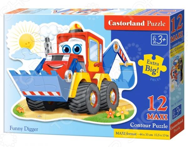 Пазл 12 элементов Castorland «Забавный экскаватор»