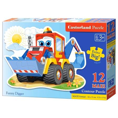 Купить Пазл 12 элементов Castorland «Забавный экскаватор»