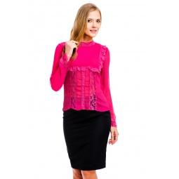 фото Блузка Mondigo 9611. Цвет: малиновый. Размер одежды: 44