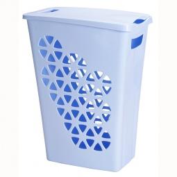 фото Корзина для белья узкая IDEA М 2604. Цвет: голубой