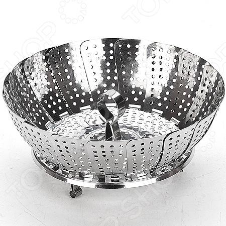 Паровая сетка Mayer Boch MB-21318 полезный предмет, поможет с приготовлением и разогревом блюд на пару. Сетка изготовлена из нержавеющей стали 18 0. Компактные размеры и складная конструкция позволят вам сэкономить место на кухне, а также взять этот предмет с собой и без труда устроить готовку там, где вам захочется. Можно мыть в посудомоечной машине.