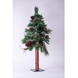 фото Сосна искусственная Crystal Trees «Европейская заснеженная с шишками»