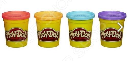 Набор пластилина Hasbro Play-Doh «Классические цвета» Набор пластилина Hasbro A9214 Play-Doh «Классические цвета» /Голубой/Фиолетовый/Оранжевый/Красный