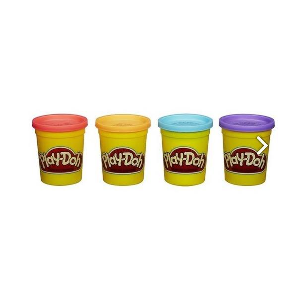 фото Набор пластилина Hasbro Play-Doh «Классические цвета». Цвет: голубой, фиолетовый, оранжевый, красный