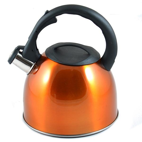 Чайник со свистком Mayer&amp;amp;Boch MB-3077. В ассортиментеЧайники со свистком и без свистка<br>Товар продается в ассортименте. Цвет изделия при комплектации заказа зависит от наличия цветового ассортимента товара на складе. Чайник со свистком Mayer Boch MB-3077 - выполнен из долговечной и прочной стали, которая не окисляется и устойчива к коррозии. Объем чайника составляет 3 литра, оснащен свистком, благодаря которому вы можете не беспокоиться о том, что закипевшая вода зальет плиту. Как только вода закипит - свисток оповестит вас об этом. Ручка чайника, а так же крышка изготовлены из специального теплоустойчивого материала, который не обжигает руки. Удобный и практичный чайник отлично впишется в интерьер любой кухни.<br>